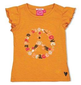 Jubel T-shirt - Whoopsie Daisy. Okergeel