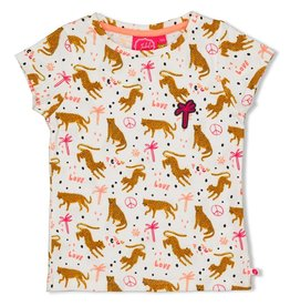 Jubel T-shirt AOP - Whoopsie Daisy. Offwhite