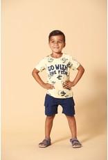 Sturdy T-shirt AOP - Smile & Wave. Geel