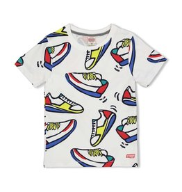 Sturdy T-shirt AOP Sneakers - Playground. Wit