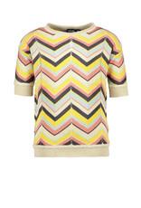 Like Flo Flo girls knitted zigzag top, Zigzag