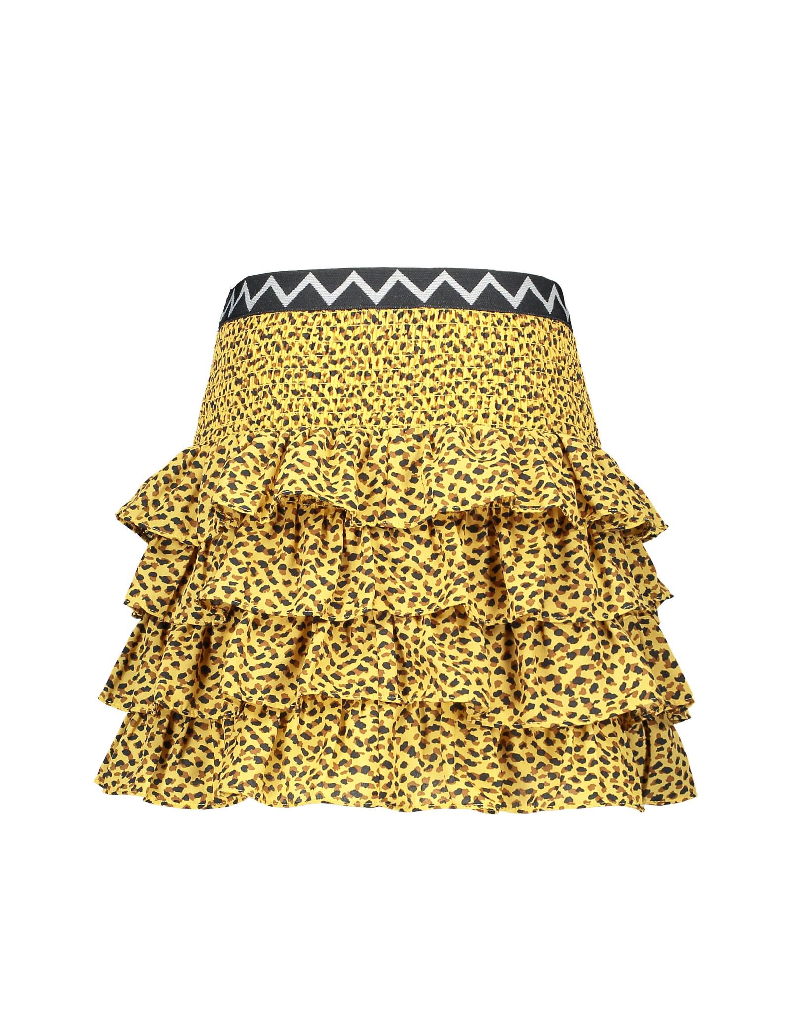 Like Flo Flo girls AO woven smock ruffle skirt, Panther