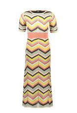 Like Flo Flo girls knitted zigzag maxi dress, Zigzag