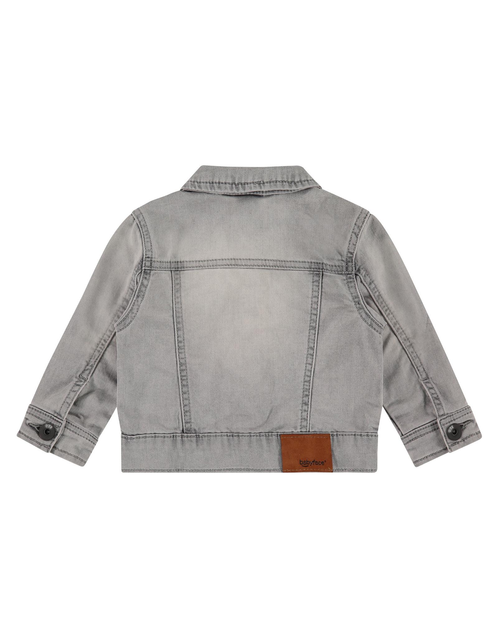 Babyface boys jogg jeansjacket, light grey denim, BBE21107113