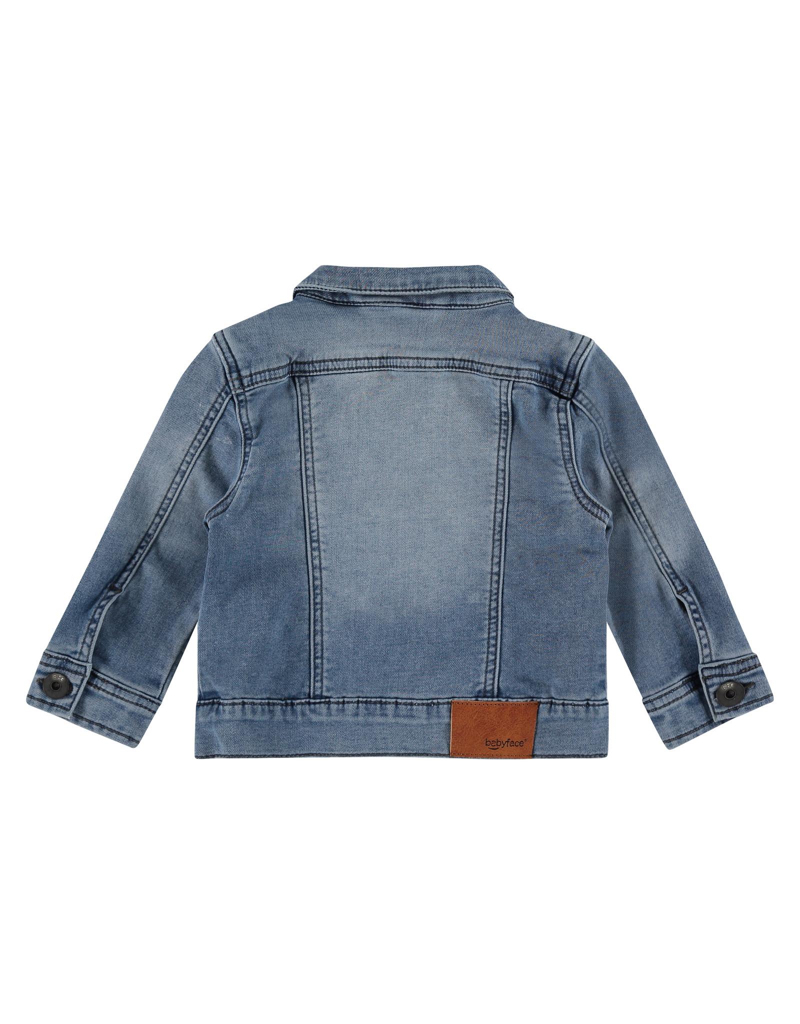 Babyface boys jogg jeansjacket, medium blue denim, BBE21107114