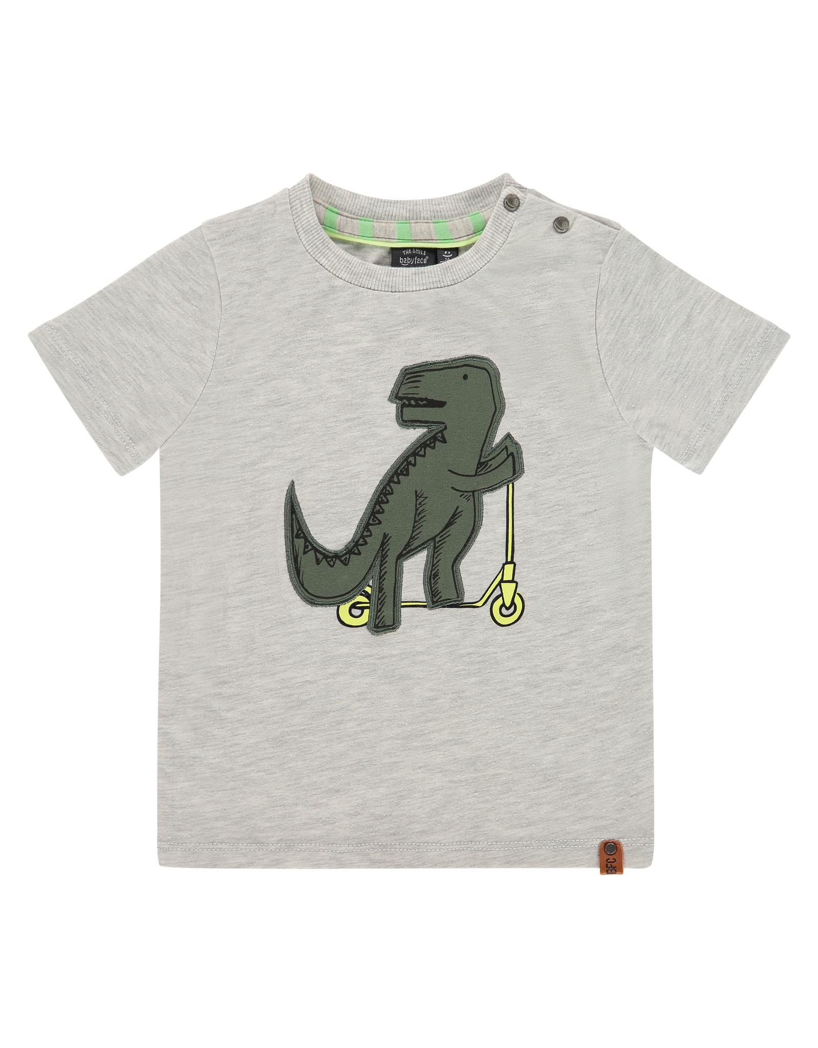 Babyface boys t-shirt short sleeve, light grey melee, BBE21107615