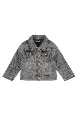 Babyface girls jeansjacket, grey denim, BBE21108114