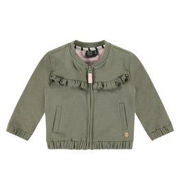 Babyface girls cardigan, moss, BBE21108404