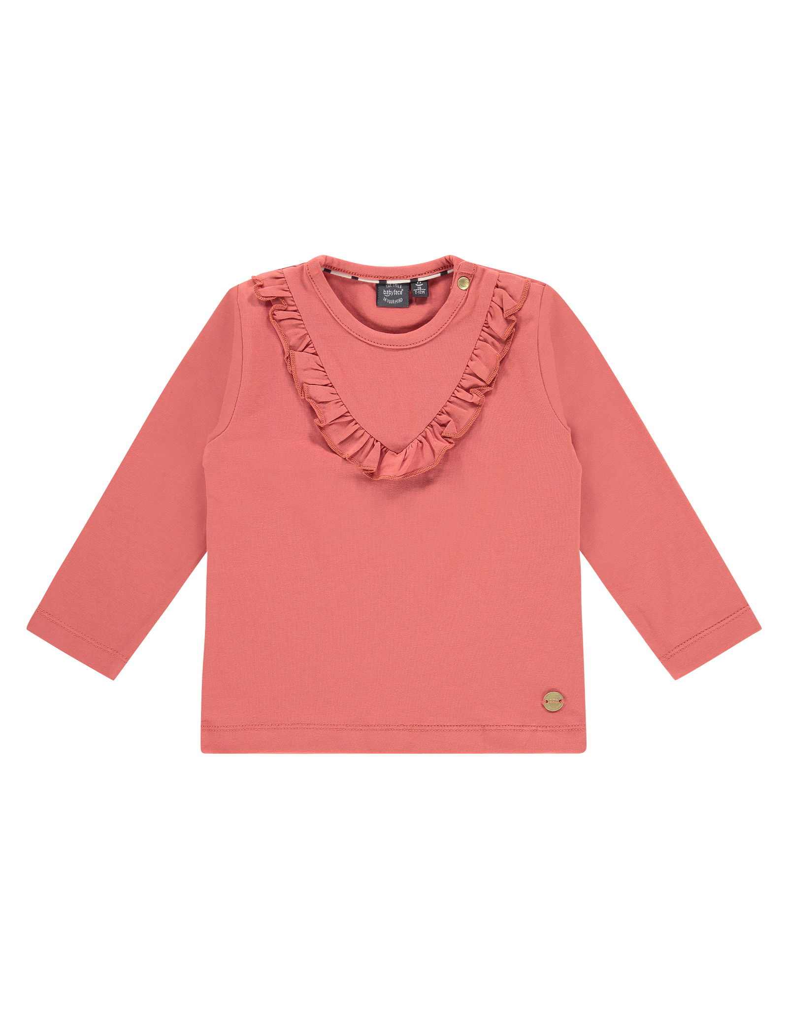 Babyface girls t-shirt long sleeve, faded rose, BBE21108604