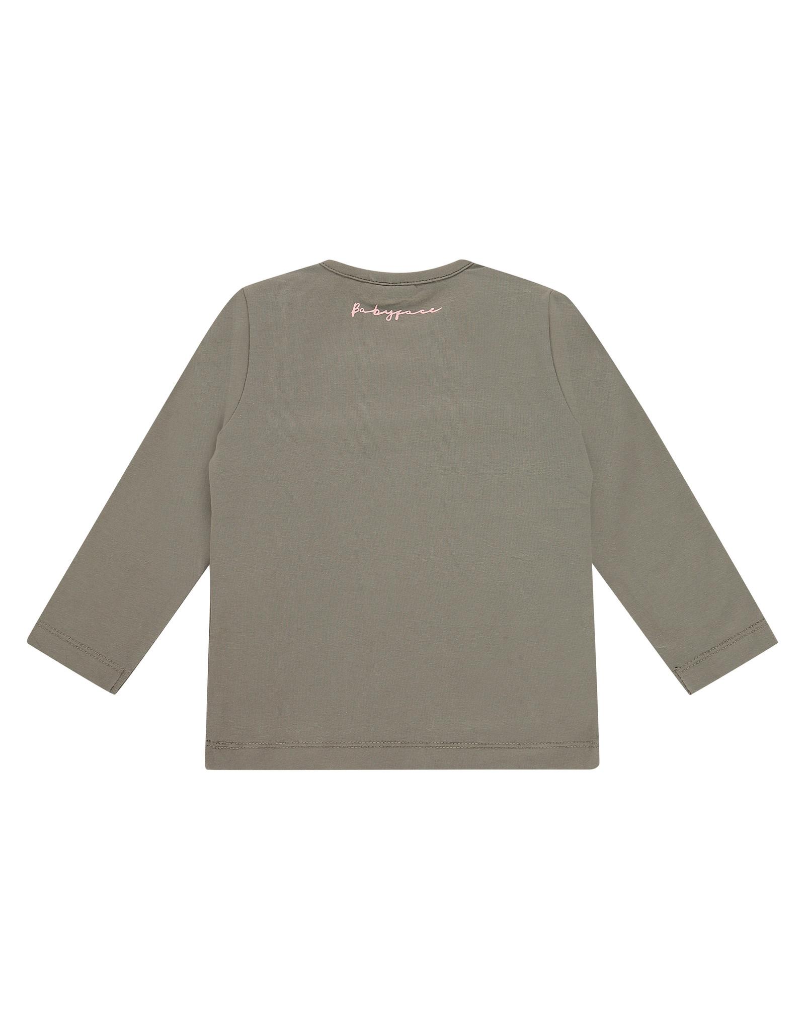 Babyface girls t-shirt long sleeve, moss, BBE21108604