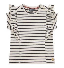 Babyface girls t-shirt short sleeve, ivory, BBE21108612
