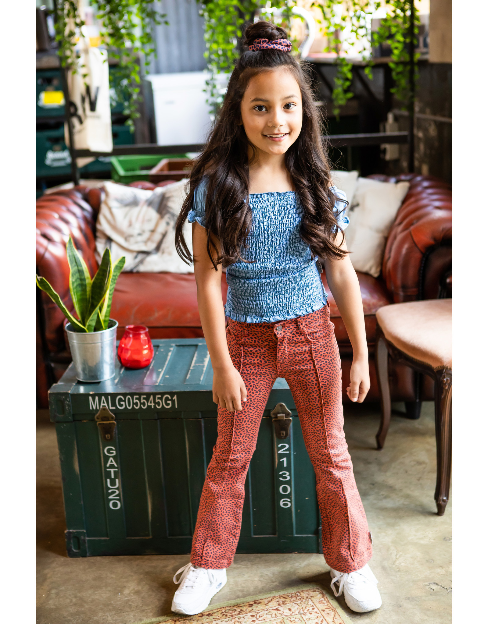 B-Nosy Girls aop mix dots flaired denim pants, Mix Dots