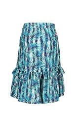 B-Nosy Girls tropical palm woven maxi skirt with ruffle detail, Tropical palm ao