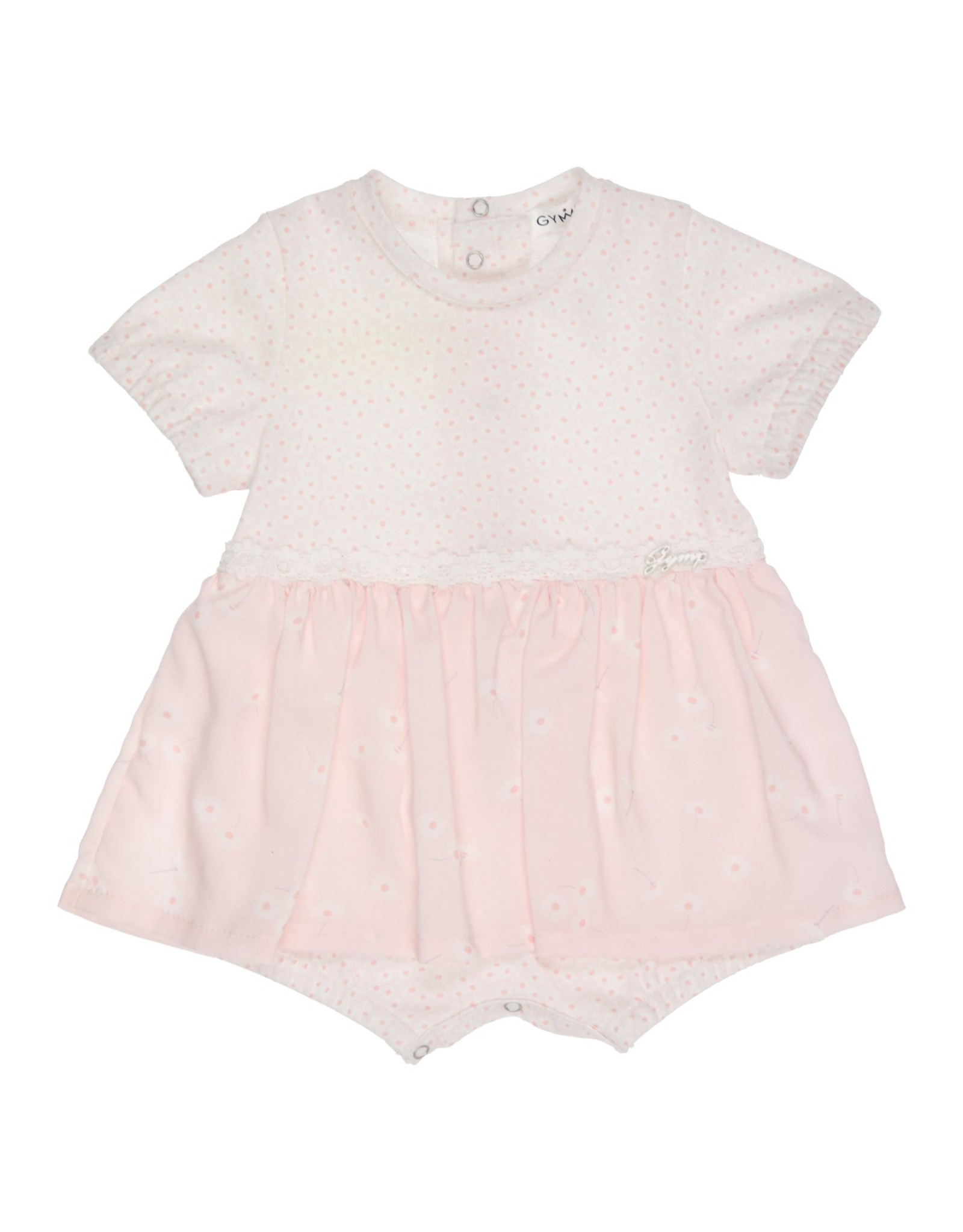 Gymp BABYPAKJE  ROMPER WITH SKIRT , OFFWHITE/VIEUXROSE