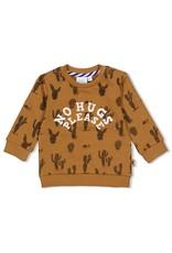 Feetje Sweater AOP - Looking Sharp. Camel