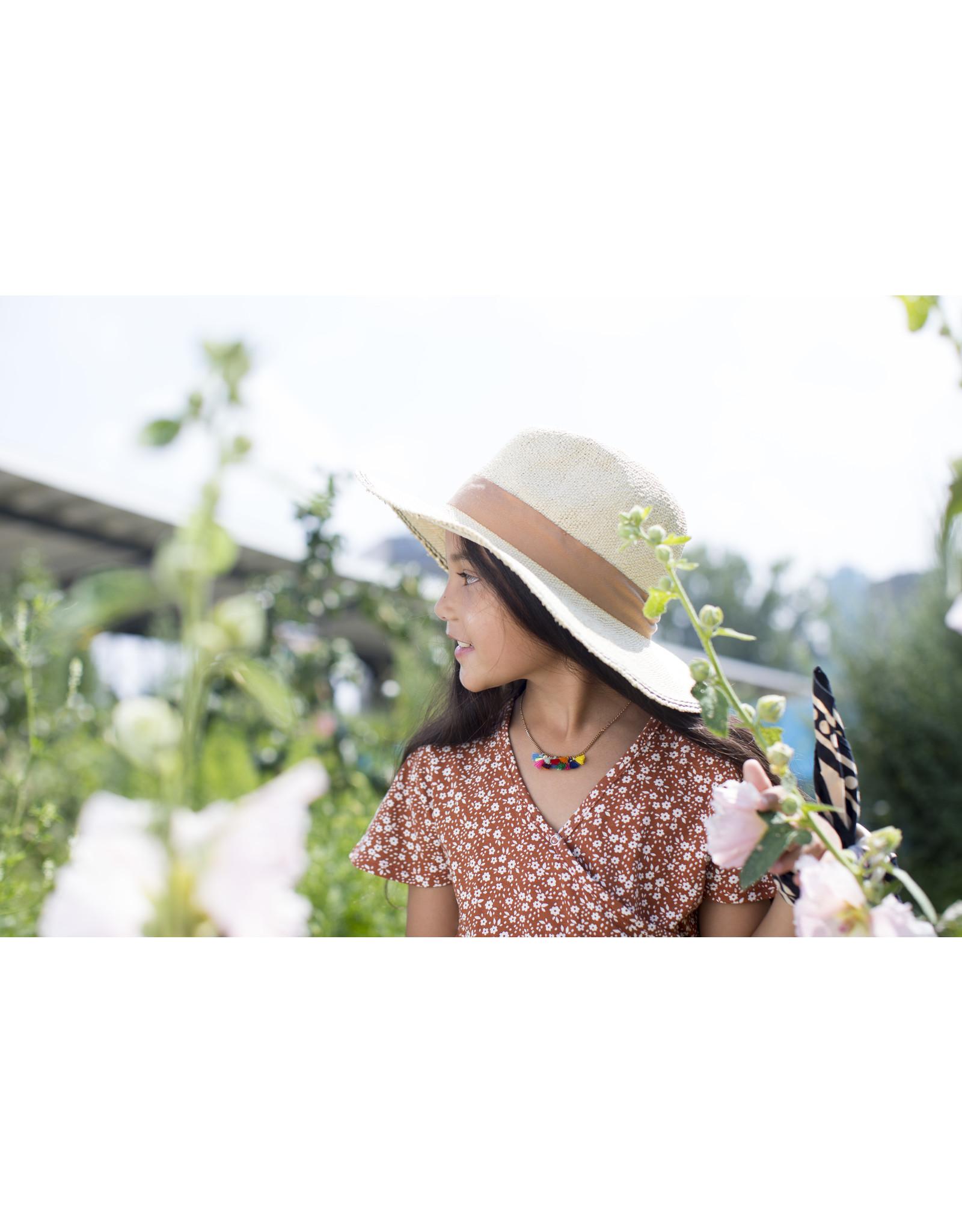 Moodstreet MT jumpsuit AO min flower, Toffee
