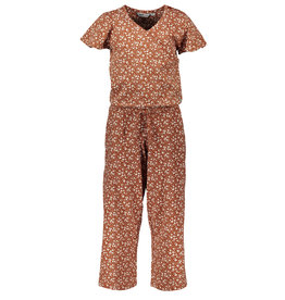 Moodstreet MT jumpsuit AO min flower, Toffee