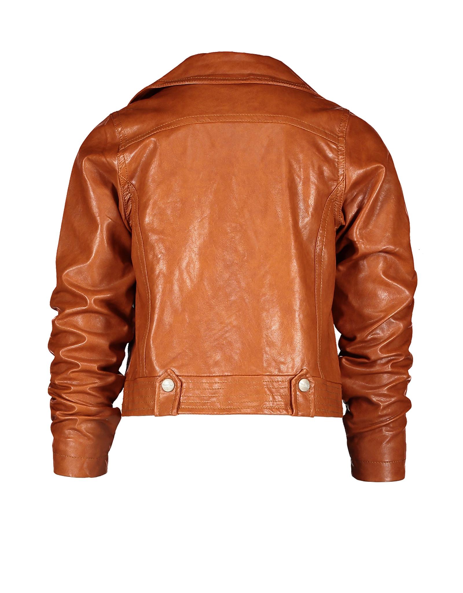 Moodstreet MT PU biker jacket, Toffee