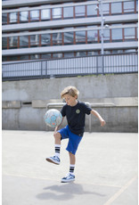 Moodstreet MT jog short AO text print, Sporty Blue