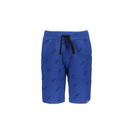 Moodstreet MT jog short AO text print, Sporty Blue