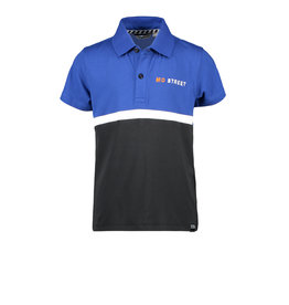 Moodstreet MT fancy polo colorblock, Sporty Blue