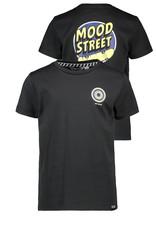 Moodstreet MT t-shirt chest + back print, Black