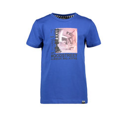 Moodstreet MT fancy t-shirt print, Sporty Blue