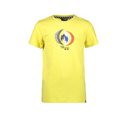 Moodstreet MT t-shirt chestprint, Washed Yellow