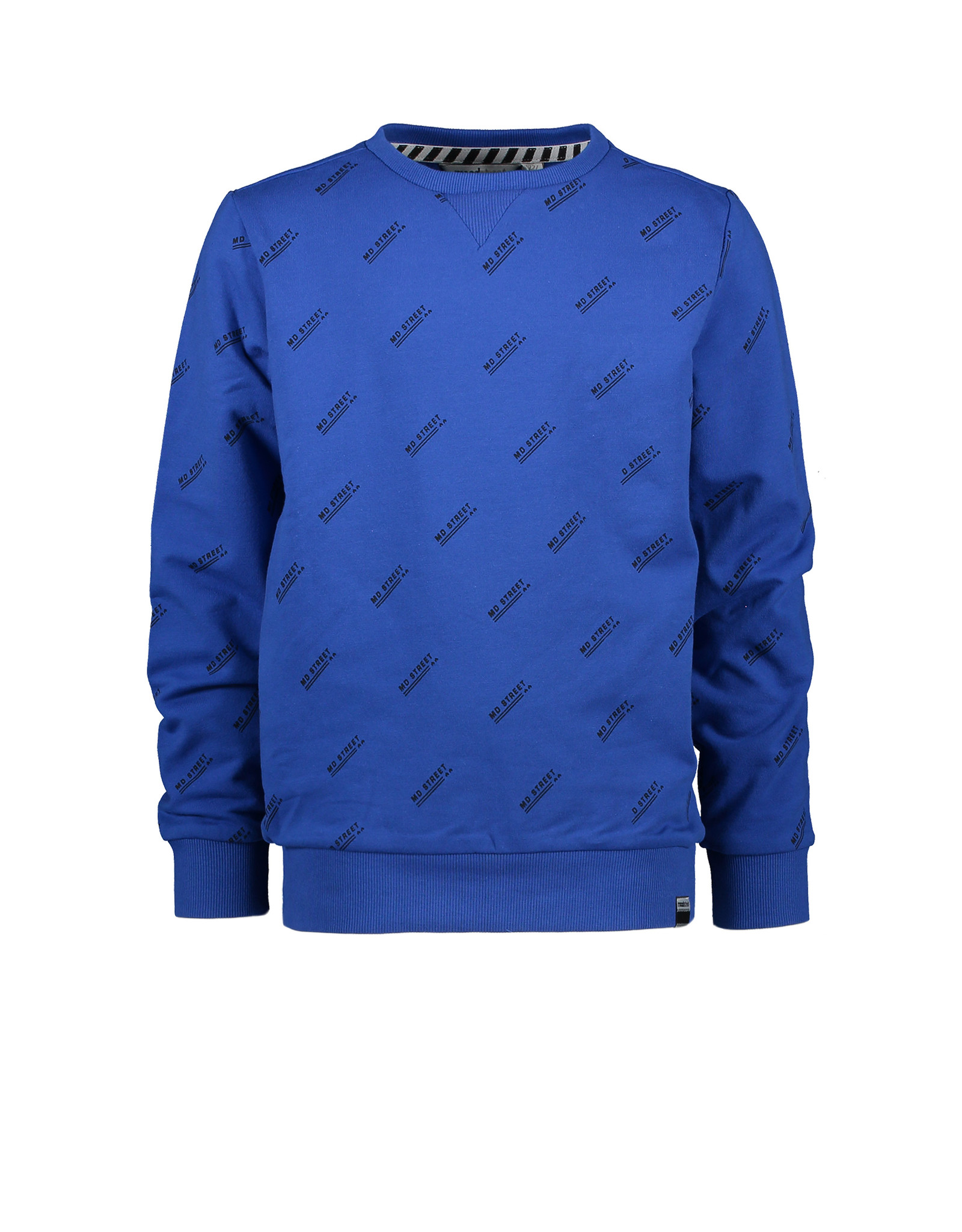 Moodstreet MT sweater AO text print, Sporty Blue