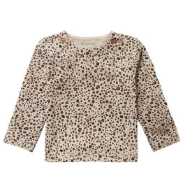 Noppies U T-shirt LS AOP Stanley, Sand Melange