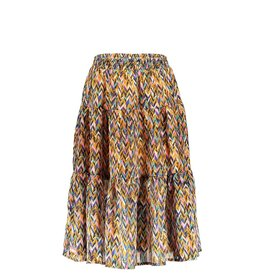 B-Nosy Girls curious aop woven midi skirt, Curious ao
