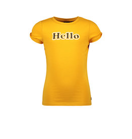 Like Flo Flo girls jersey tee open shoulder roll, Sunflower