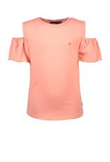 Like Flo Flo girls jersey open shoulder top, Bubblegum