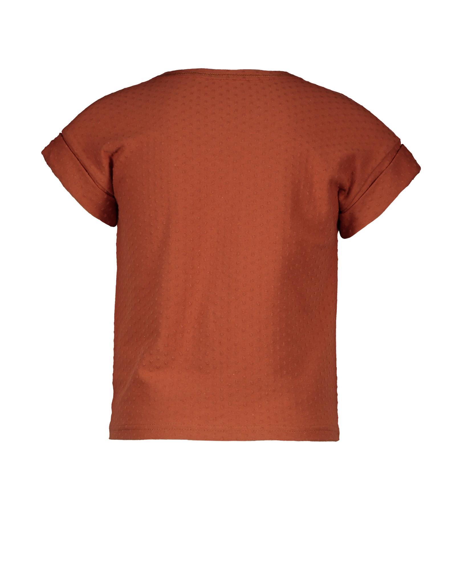 Like Flo Flo girls fancy jersey knot top, Cognac