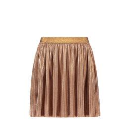 Like Flo Flo girls rose gold plisse skirt, Rose gold