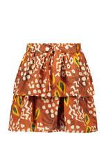 Like Flo Flo girls AO woven 2 layer skirt + belt, Cognac papaya