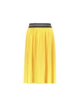 Like Flo Flo girls jersey plisse skirt maxi, Lemon