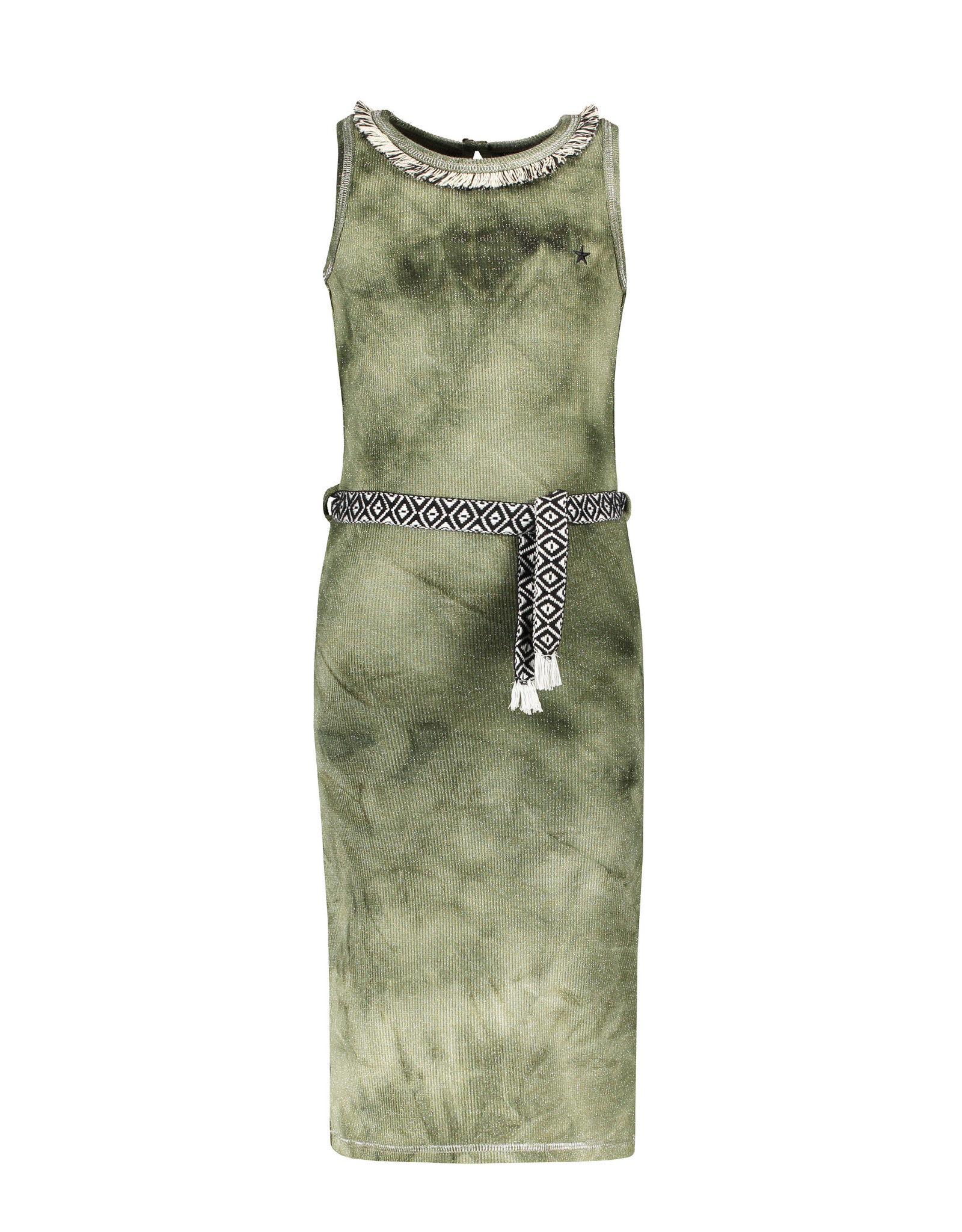 Like Flo Flo girls waffle bleach maxi singlet dress, Army