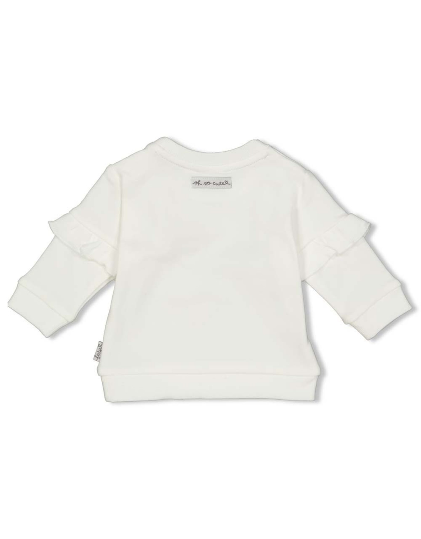 Feetje Sweater - Panther Cutie. Offwhite