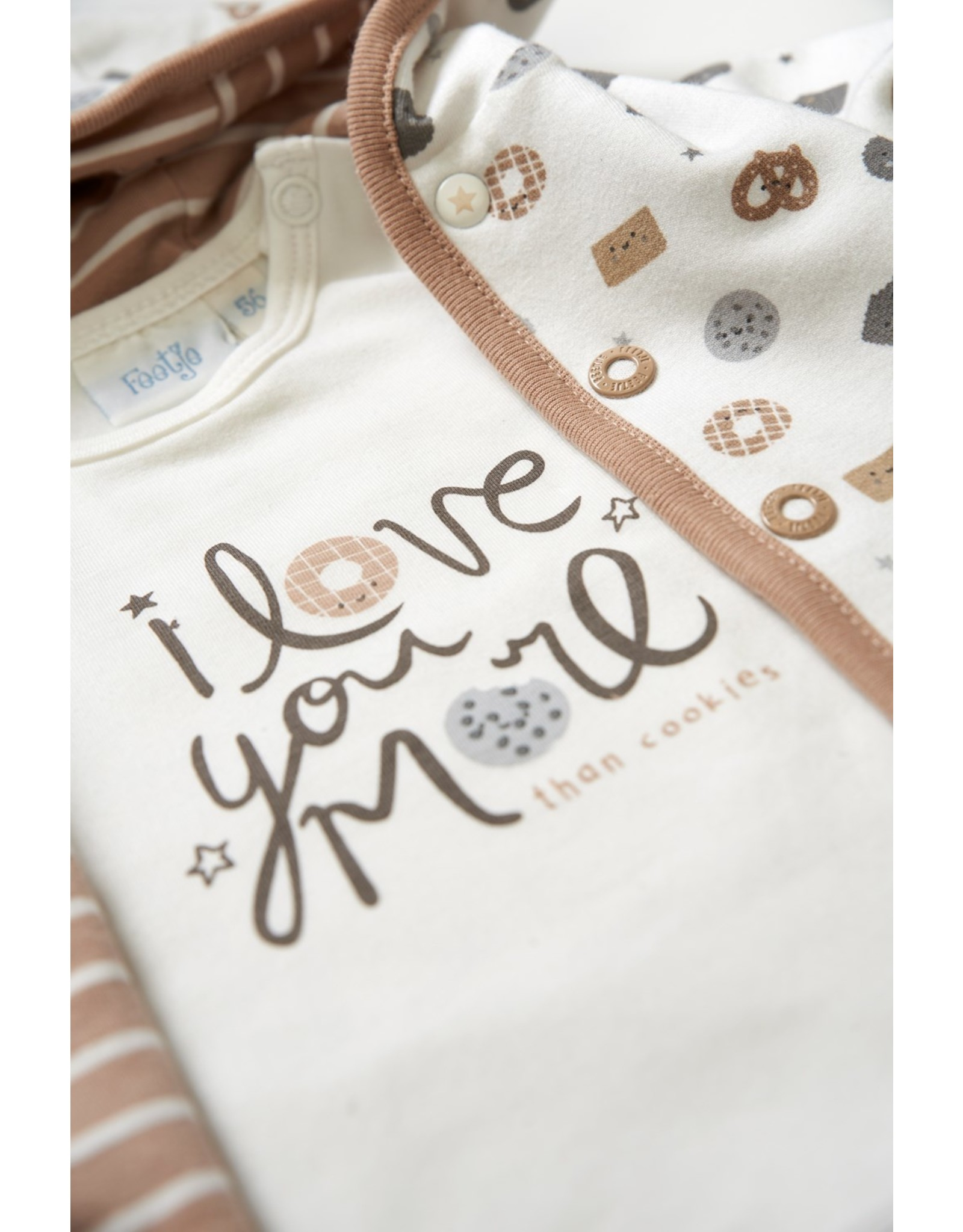 Feetje Longsleeve Love You - Mini Cookie. Offwhite