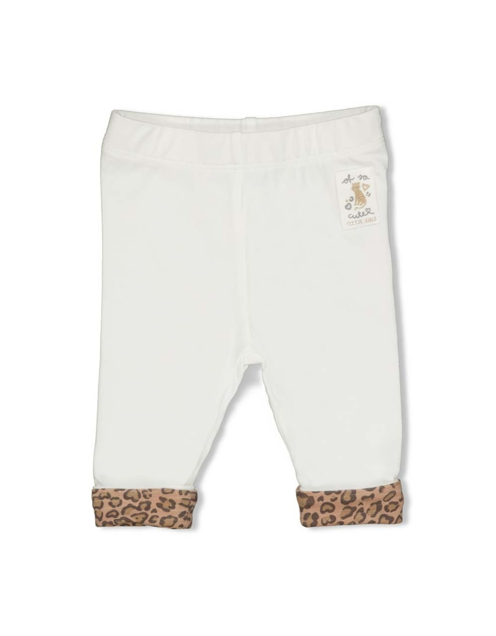 Feetje Legging - Panther Cutie. Offwhite