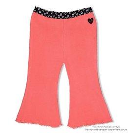Feetje Flare pants - Leopard Love. Neon Koraal