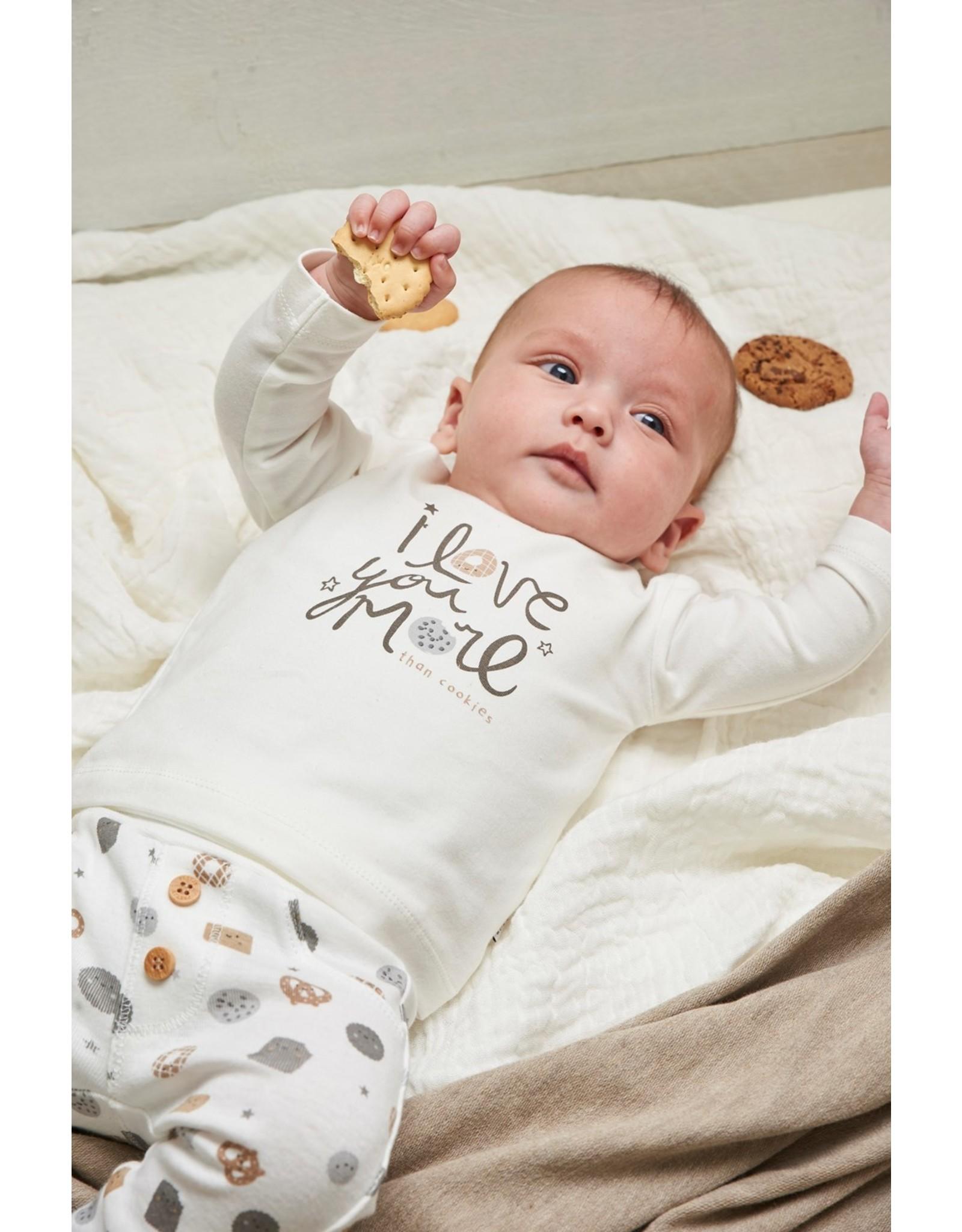 Feetje Broek AOP - Mini Cookie. Offwhite