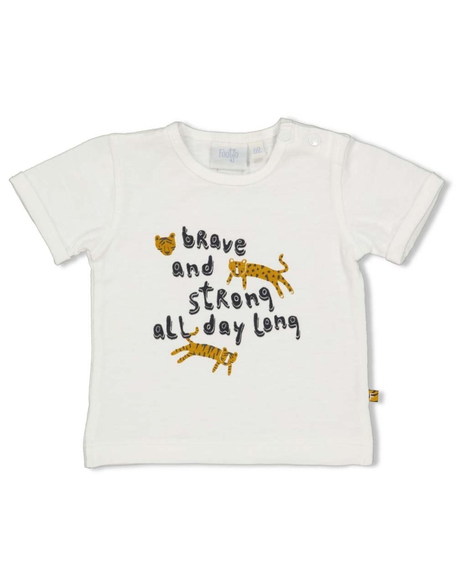 Feetje T-shirt - Go Wild. Offwhite