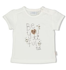 Feetje T-shirt - Panther Cutie. Offwhite