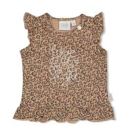 Feetje T-shirt AOP - Panther Cutie. Zand