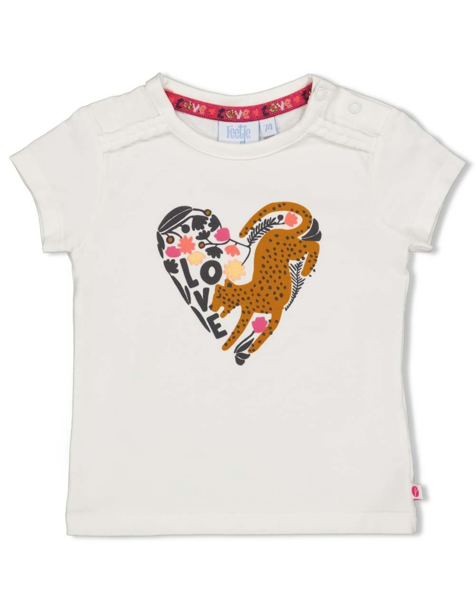 Feetje T-shirt - Whoopsie Daisy. Offwhite