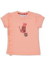 Feetje T-shirt - Leopard Love. Roze