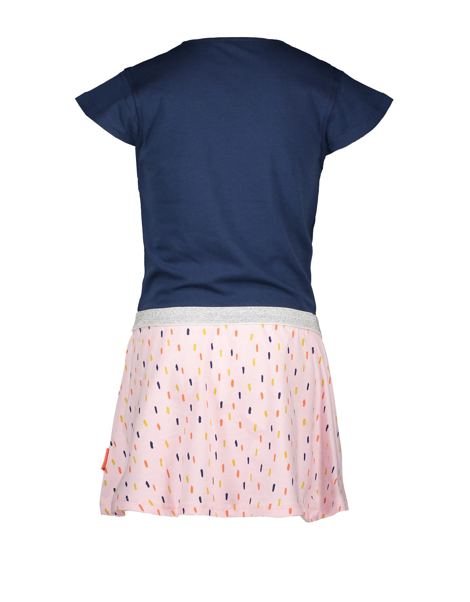 Bampidano Bampidano Junior Girls multi dress Delfine plain top + AO skirt with elastic waist NATURE