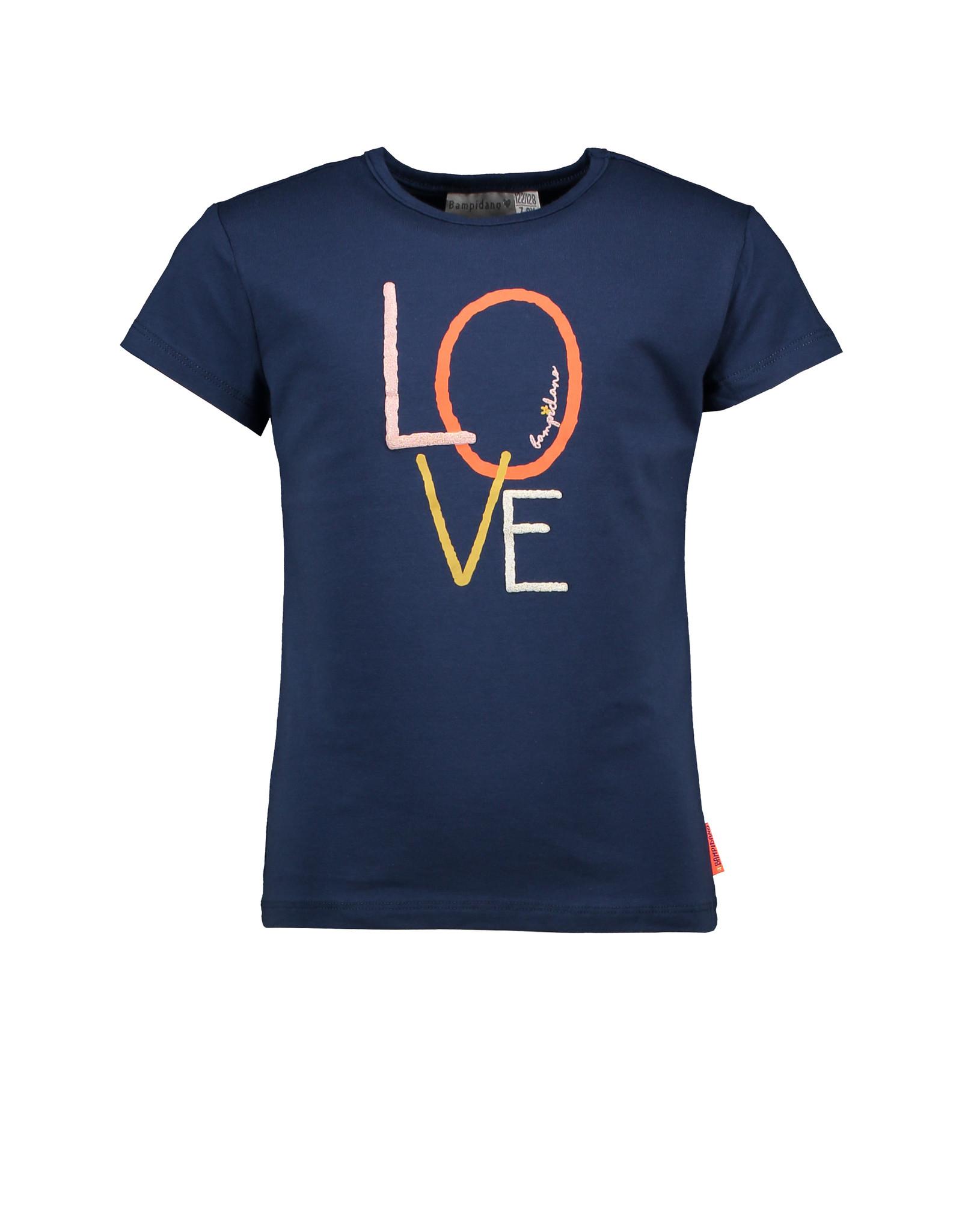 Bampidano Bampidano Junior Girls short sleeve T-shirt Dionne plain with print NATURE
